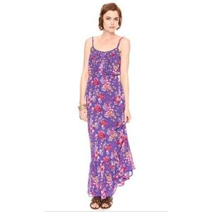 Forever 21 floral purple maxi dress